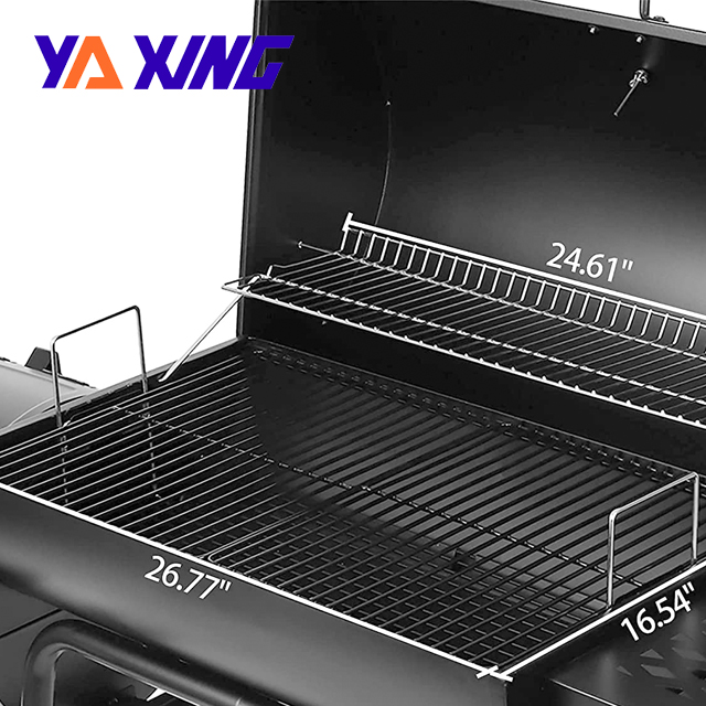 extra storage space Heat Resistant Offset Smoker Yaxing Charcoal Grill