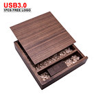Usb Disk Usb 32gb USB For Wedding Gift Wooden Photo Album Box Flash Drive U Disk Memory Stick 4GB 8GB 16GB 32GB 64GB Usb 3.0 Logo Customize