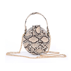 Bags Baag Lady 2021 Custom Stylish Long Chain Women Circle Crossbody Bags Pu Ladies Round Handbags Shoulder Baag