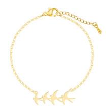 Kinitial модный браслет с цепочкой для женщин, Простой Привлекательный Geomeric браслет, femme, богемные ювелирные изделия, подарок, pulsera mujer(Китай)