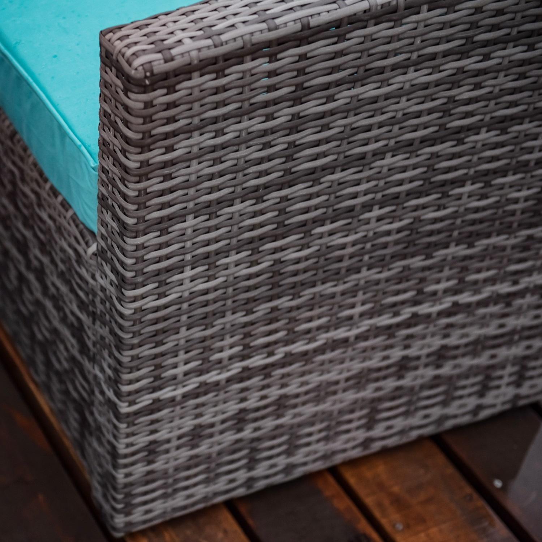 7 штук, садовый диван, плетеный наружный секционный набор с подушками