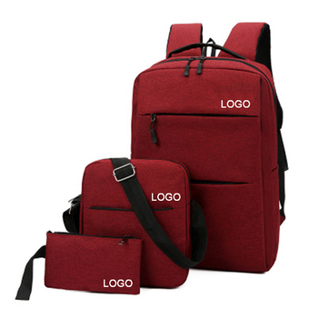2020 trending new design oem popular school sag 3pcs leisure outdoor travel backpack with customized logo