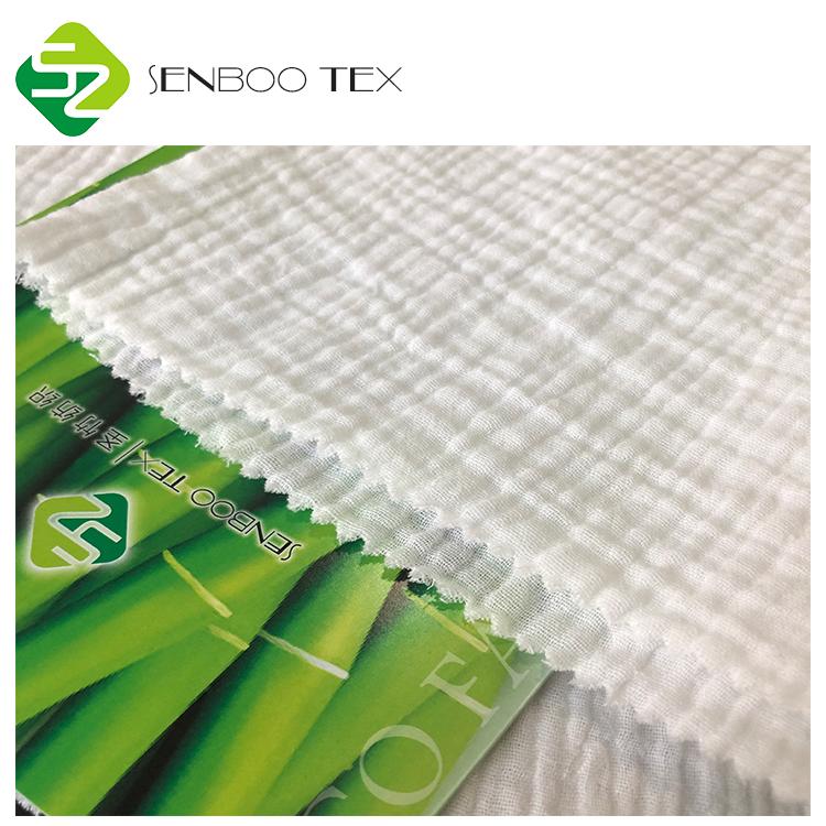 Бамбуковая Органическая хлопковая двухслойная марлевая мягкая ткань для детской одежды и пеленок
