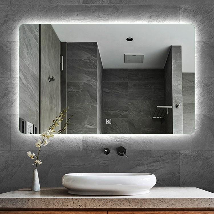 Backlit Lighted Led Bathroom Mirror Waterproof Vanity Mirror With Light Buy Backlit Mirror Bathroom Mirror With Lights Led Bathroom Mirror Product On Alibaba Com