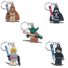 100 шт. брелок для ключей с героями мультфильма «Звездные войны», ПВХ брелок для ключей, модные аксессуары, брелок для ключей, детский подарок(Китай)