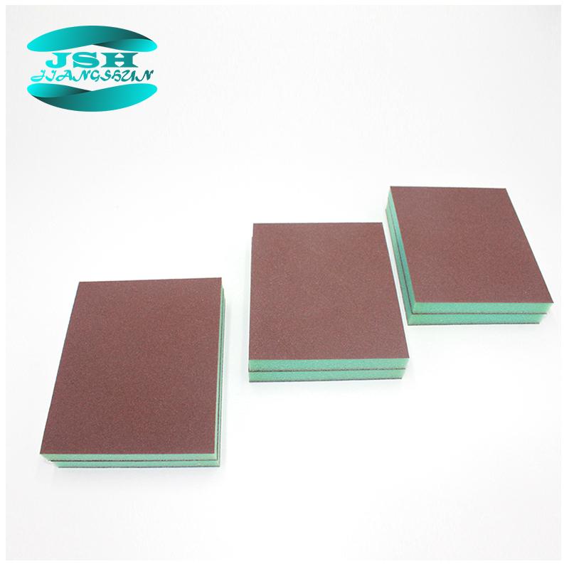 2020 hot sell high quality square multifunction aluminum oxide abrasive sand foam sanding sponge block