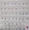One set for samples round 8.0mm CZ 47 colors