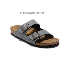 Дышащие пробковые тапочки для мужчин и женщин, модные сандалии на плоской подошве Аризона, обувь больших размеров(Китай)