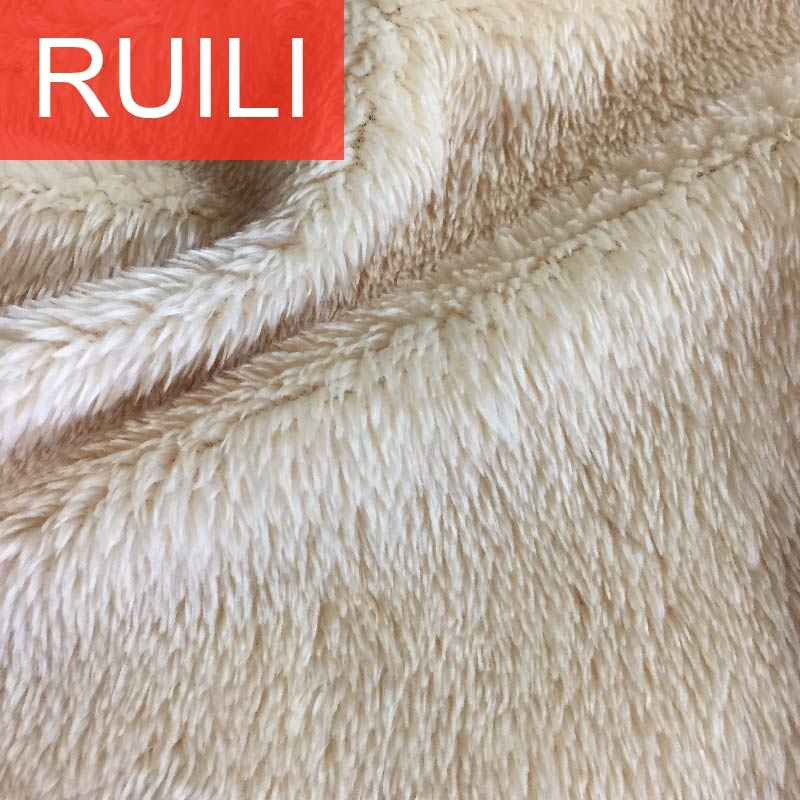 super soft shiny polyester weft knitted sherpa lining fabric