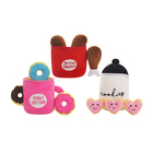 Food Toys For Dog Hot Sale OEM Food Drumstick Doughnut Set Pet Toys For Dog With Squeaker