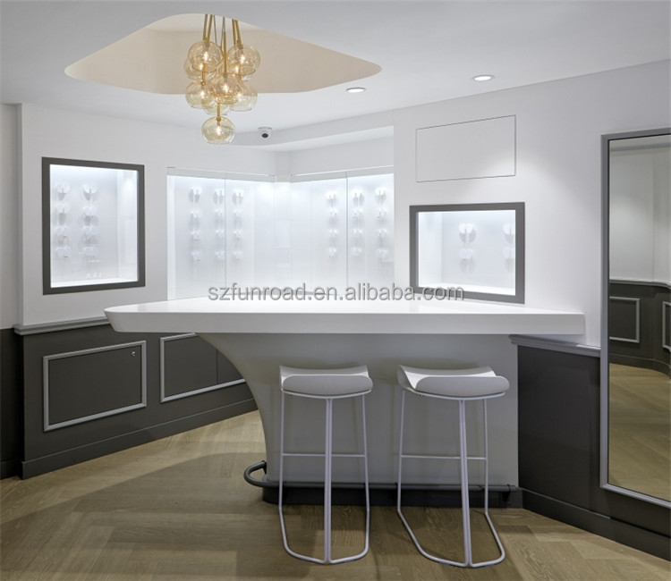 Lockable fancy jewelry showcase with jewelry store furniture for sale
