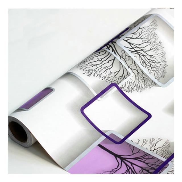 Модная Классическая Геометрическая настенная бумага домашний декор для спальни 3d цветочные обои из ПВХ