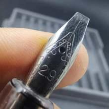 Прозрачная перьевая ручка Moonman EF/F/M/0,7 мм/1,1 мм/1,5 мм/1,9 мм/2,5 мм/2,9 мм, Канцтовары для офиса и школы, 1 шт.(Китай)