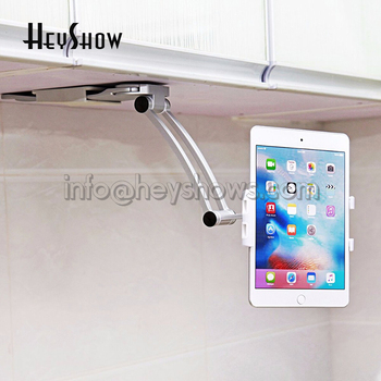 "Portable Tablet Wall Stand Desk Kitchen Metal Bracket Rotating Fit 4-12.9"" Devices For iPad Pro Air Mini Mobile Phone Holder"
