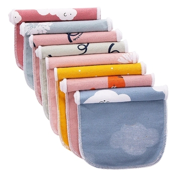 Private Label Reusable Eco-Friendly Paperless Baby Organic Unbleached Cleaning Cloth Washable Tea Napkins Kitchen Unpaper Towel