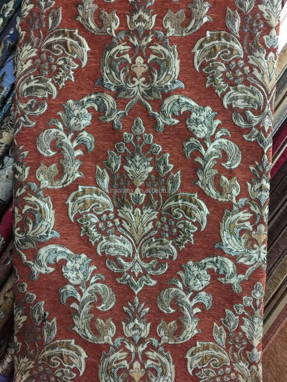 factory supplier upholstery fabric burnt orange stripe fabric