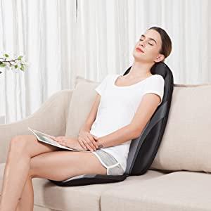 Акупунктурный шиацу массажер для спины с нагревательными и гелевыми массажными узлами, подушка для массажа тела