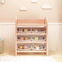 Kindergarten baby floor bookshelf Children's toy storage rack Large-capacity storage cabinet multi-layer rack