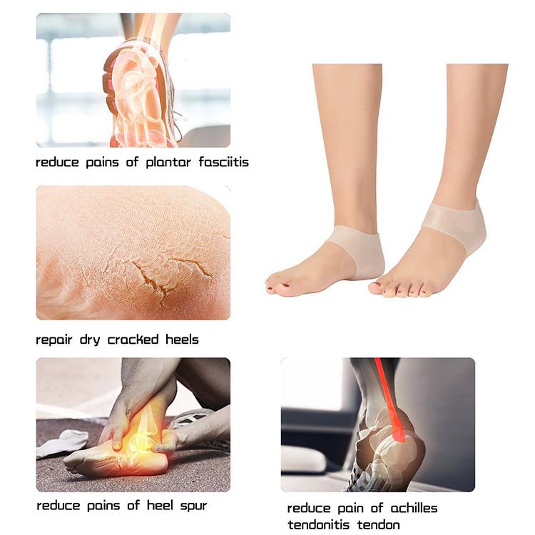 Силиконовые носки для снятия боли в ступнях, гелевый протектор пятки