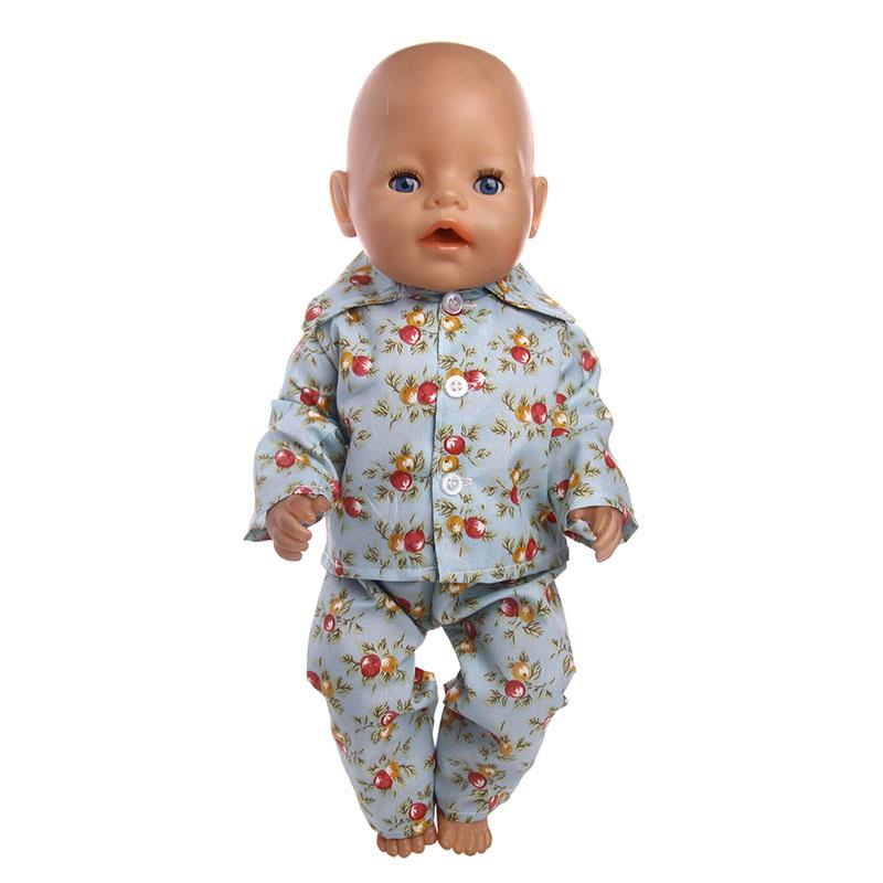 Одежда для кукол; 14 видов стилей пижамы; 18 дюймов; американская кукла; 43 см; кукла для новорожденных; поколение для поколения; игрушка для мал...(Китай)