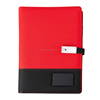 Red wireless power bank notebook+pen