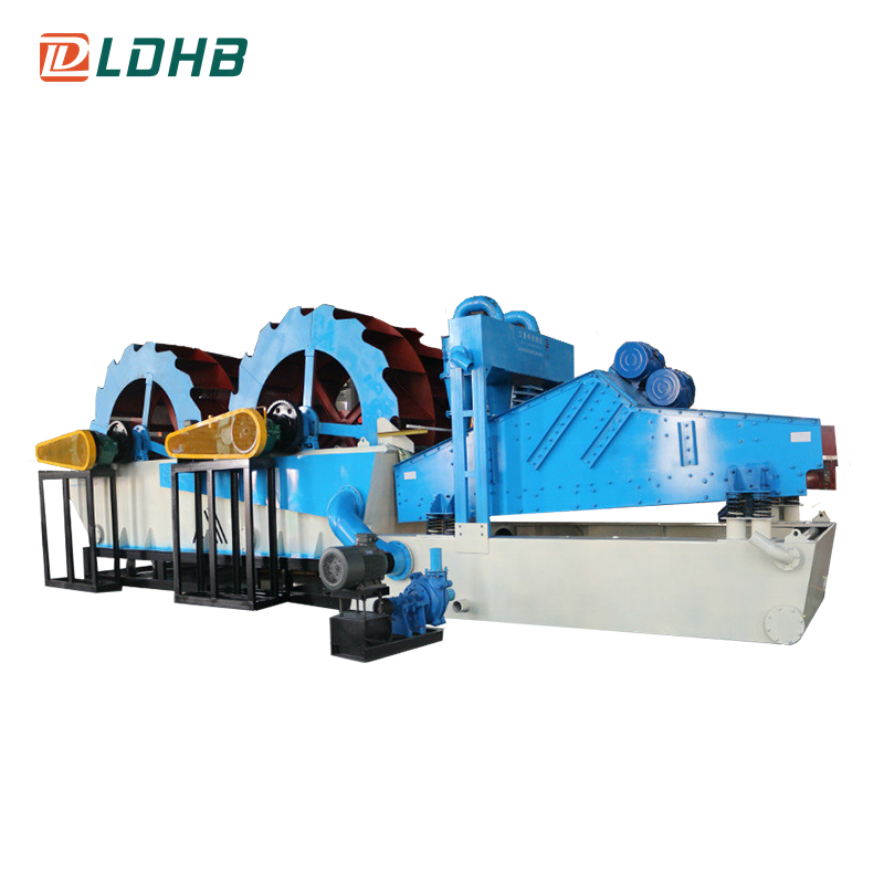 High capacity Dual Wheel Sand Washing Machine with Dewatering System