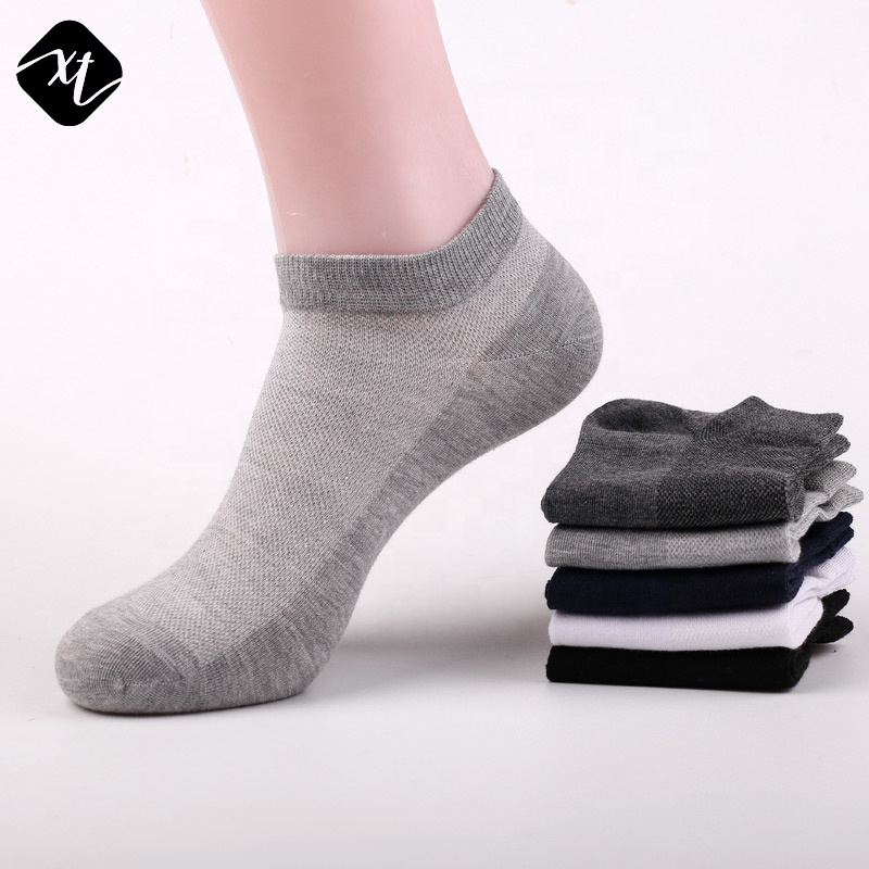 Hot selling spring summer thin pure mesh cotton invisible short tube sweat absorption boat low cut socks