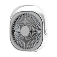 Портативный мини-вентилятор 360 ° USB Охлаждающий мини-вентилятор портативный 3 скоростной Супер Бесшумный кулер для офисных крутых вентилято...(Китай)