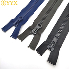 Zip Zipper For YYX No.5 No. 8 Resin Open And Long Zip Down Jacket Zippers For Sewing Extra Large Plastic Zipper Fashion Accessories
