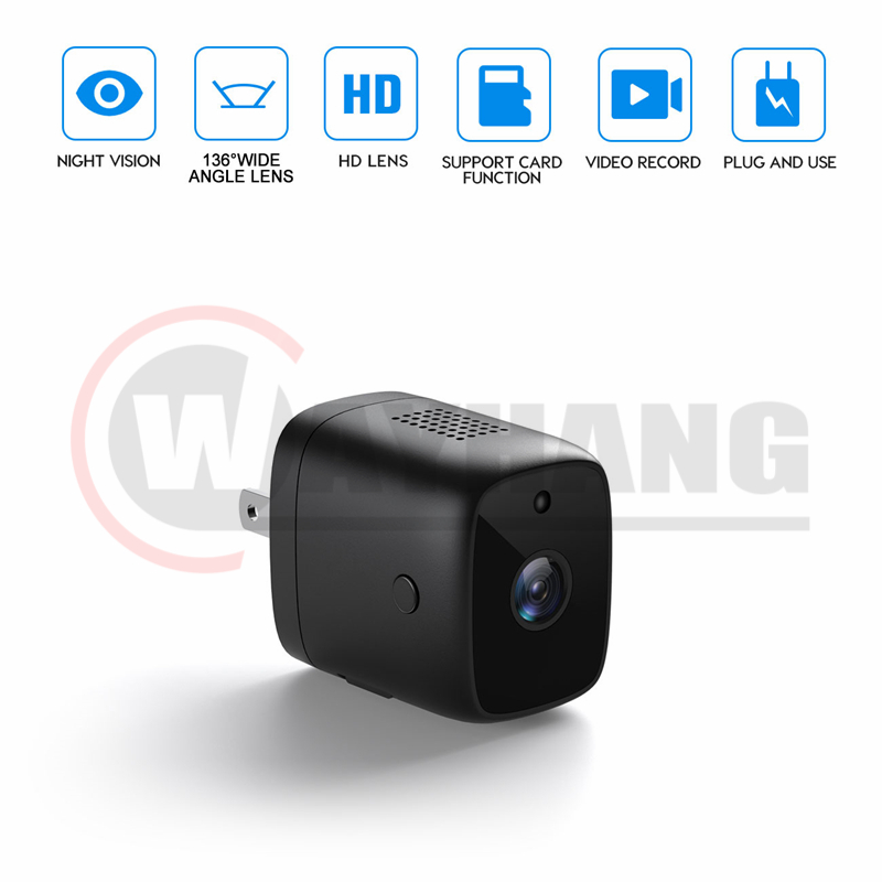 1080P Wifi Micro Camera Wall Charger Cam Night Vision Motion Detect Camcorder HD Covert Surveillance Security Cam for Smart Home