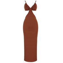 Ailigou новое летнее женское белое длинное Бандажное платье с v-образным вырезом, сексуальное Клубное платье на тонких бретельках, праздничное ...(Китай)