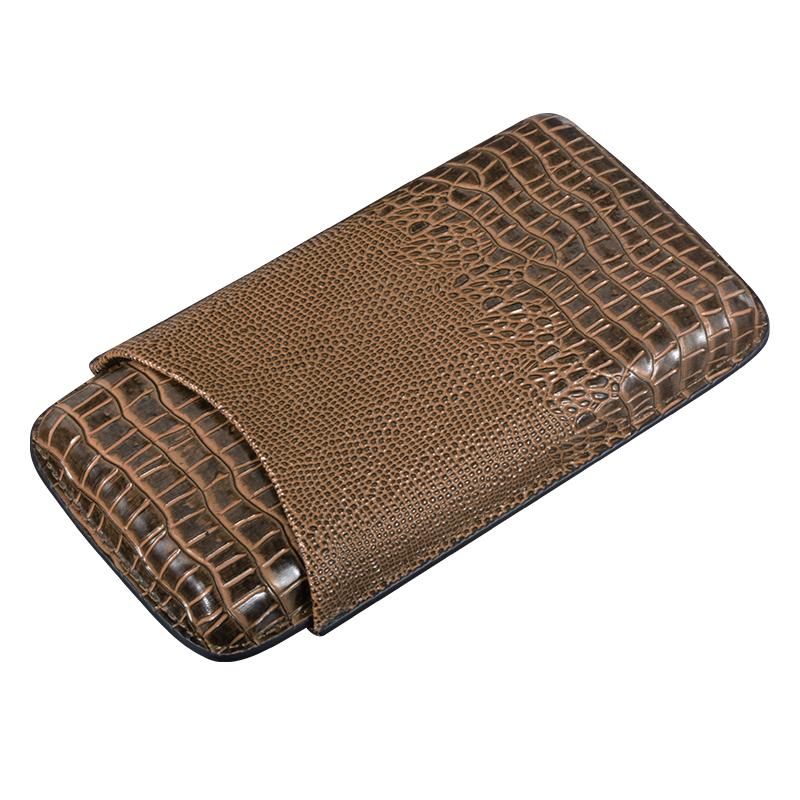 Прямая поставка с фабрики роскошный новый дизайн 3CT кожаный держатель для сигар для путешествий