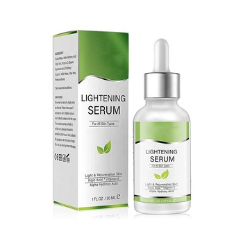 China manufacturer natural skin care products for women dark Spot Corrector Removal Lightening Serum with Kojic Acid