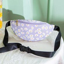 Летняя Пляжная поясная сумка с цветами, модная женская нагрудная сумка на молнии, поясная сумка для женщин, сумка-мессенджер, сумка для теле...(Китай)