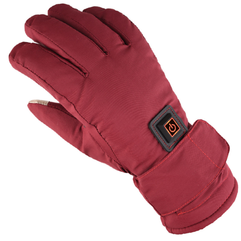 Electric Heated Climbing Hiking Ski Motorcycle Waterproof Glove Winter Touch Screen Rechargeable Heating Gloves