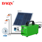 Working Mini Mini Factory Price 20W With 16AH 11.1V Battery Working 24H Home Mini DC Solar Kit