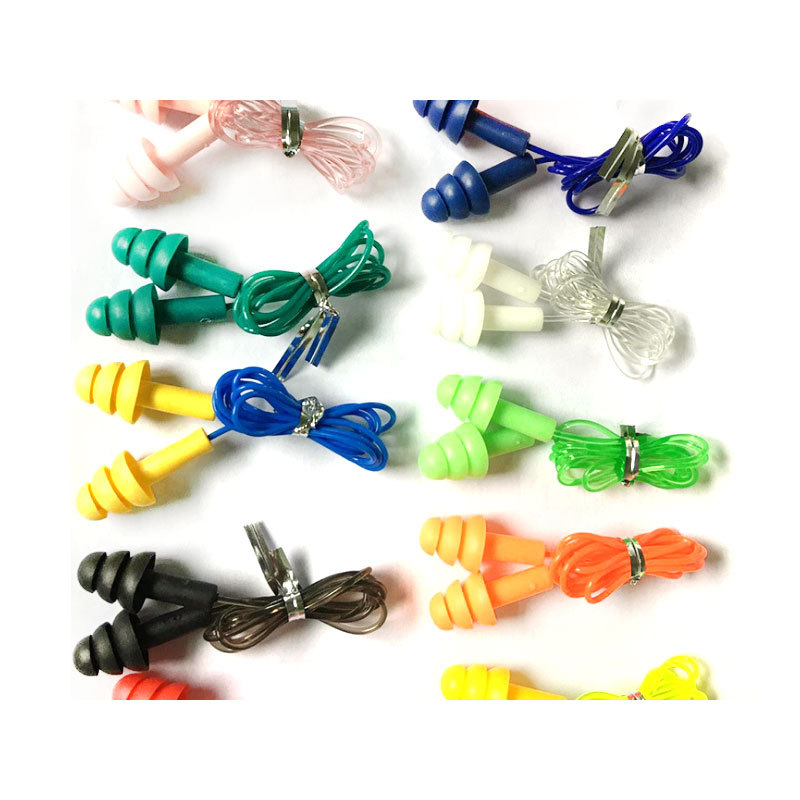 Hot Sale Disposable Comfortable Cheap Silicone Earplug With Cord