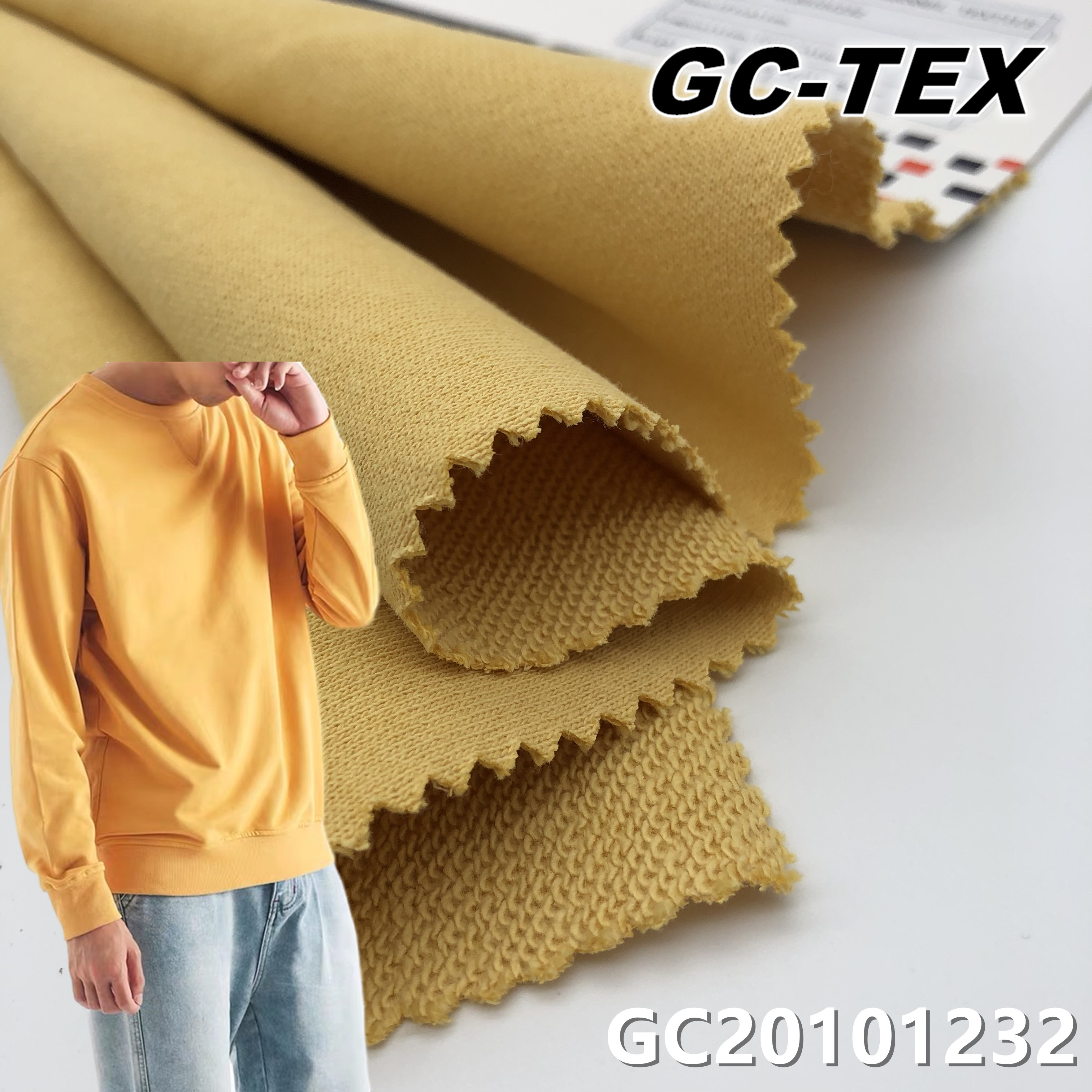 Heavyweight French Terry Fabric 100%Cotton 360GSM Brushed Readystock for Hoodie Sweatshirt