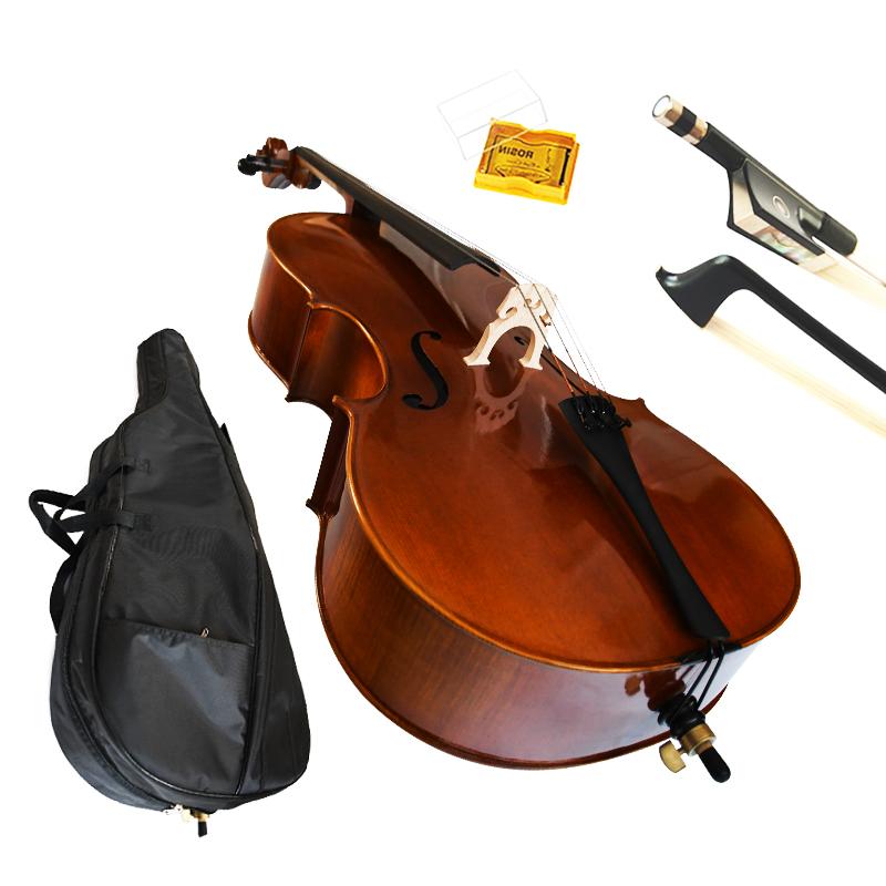 Профессиональные высококачественные Струнные инструменты, 4/4 углеродный Жесткий Чехол ручной работы для виолончели