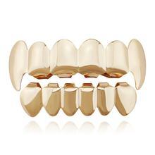 NewXHYT1015 однотонный набор зубов в стиле хип-хоп, набор электропластин, открытые верхние нижние зубные Украшения для тела, Прямая поставка(Китай)
