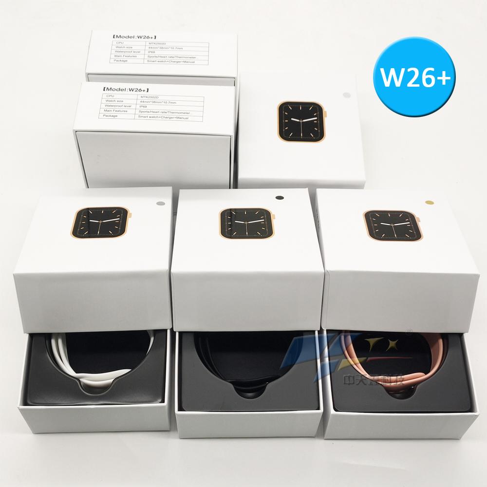 2021 хит W26 + беспроводной заряженный смарт-браслет с пульсом фитнес-трекер кровяное давление часы цветной экран трекер активности