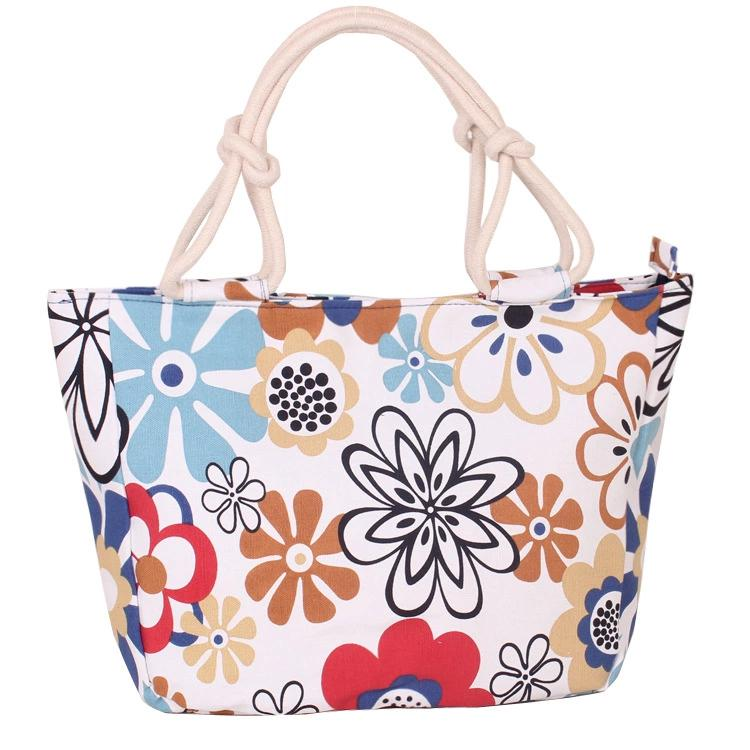 Canvas shopping bag Hot Selling Multifunctional Large Capacity outdoor Printed tote hand carry bag for women