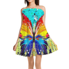 Dress Silk 2021 Colorful Butterfly Print Sexy Club Dress For Summer Custom Print Women Ice Silk Skirts Girls 2 Ways To Wearing Skirts