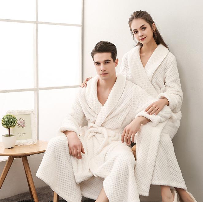 Оптовая продажа, роскошный флисовый банный халат с ананасами, одежда для сна для мужчин и женщин