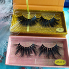 Eyelashes 25mm Eyelashes Mink Lashes Wholesale 3D 25mm Luxury Dramatic Fluffy Mink Eyelashes Vendor For Real Wispy Mink Lash
