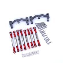 WPL C14 C24 металлический Тяговый соединительный стержень держатель титан/красный галстук бар Анкерный стержень крепление для RC автомобиль пик...(China)