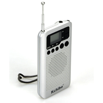 Kchibo 2020 New pocket pll digital am-fm radio with alarm clock, auto scan fm radio receiver
