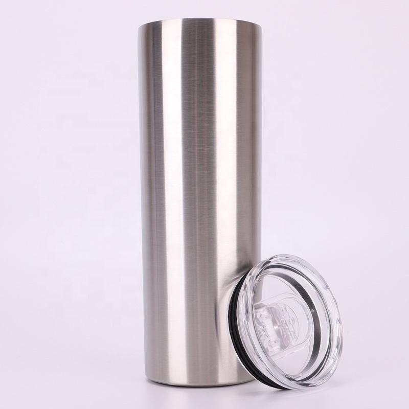 Лидер продаж, вакуумная Изолированная тонкая кружка с двойными стенками из нержавеющей стали объемом 20 унций, сублимационные заготовки, тонкие кружки 20 унций