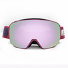 PC dual grey lens with full revo crystal pink color coating