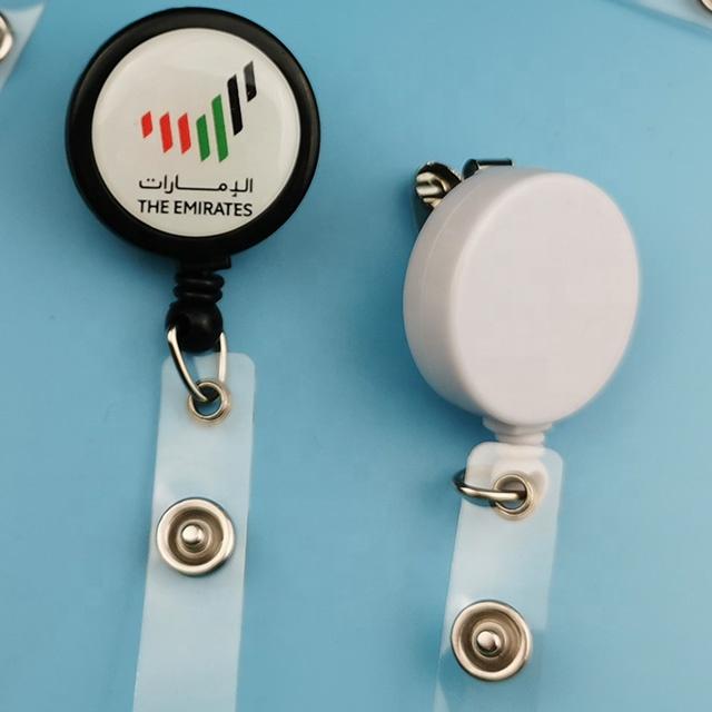 Большие эпоксидные таблички с логотипом на заказ, пластиковая катушка для значков с плоской поверхностью 32 мм